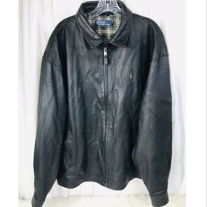 Polo by Ralph Lauren Genuine Leather Black Jacket